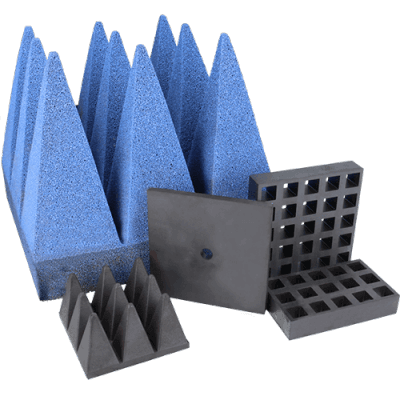 EMI és RFID abszorberek, ferritek és piramisok