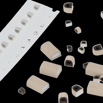 Vezetőképes gumi PCB árnyékoló tömítések