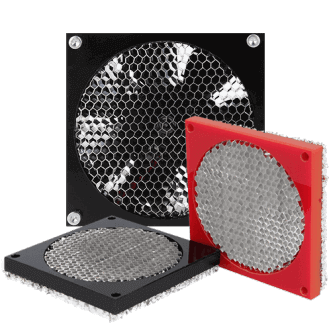 Honeycomb fan pajzs
