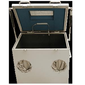 Vizsgálati doboz (kesztyűvel és ablakkal)