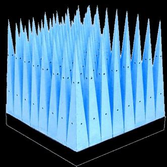 Nagy teljesítmény átadása mikroporózus piramis lengéscsillapítók