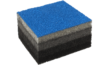 PU foam based flat absorber
